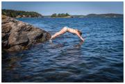 Mathilda taking a dive