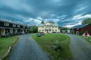 Weather looming behind Lergodset hostel in Hammarstrand, Jämtland