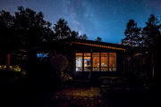 Our cottage under the Milky Way