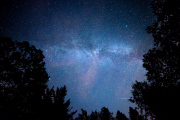 A satellite makes a line on this 20 second exposure of the Milky Way
