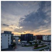Sun setting over Sannegården
