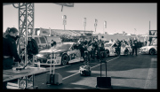 Lining up for pre-race inspection.