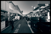 Looking down the back of pit lane.
