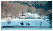 Korsviken manor house across from our swimming spot.
