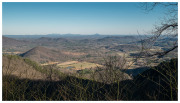 Look-out along Blue Ridge Parkway, North Carolina