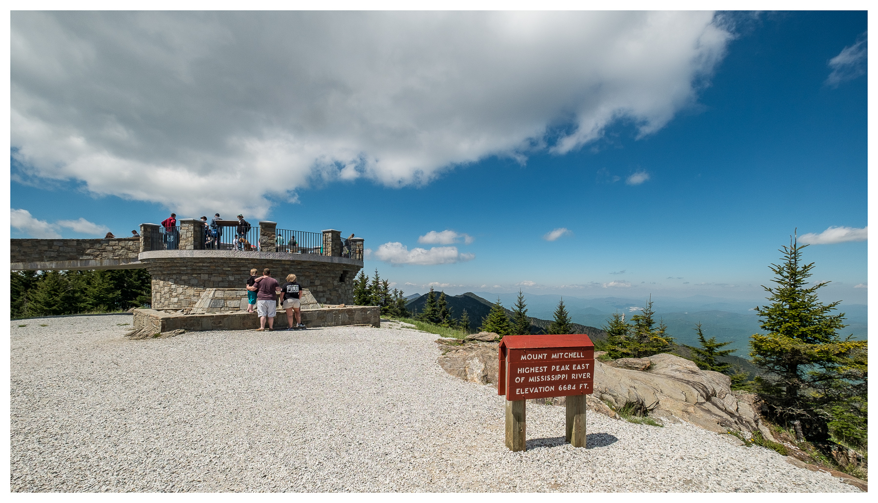 From Mount Mitchell summit