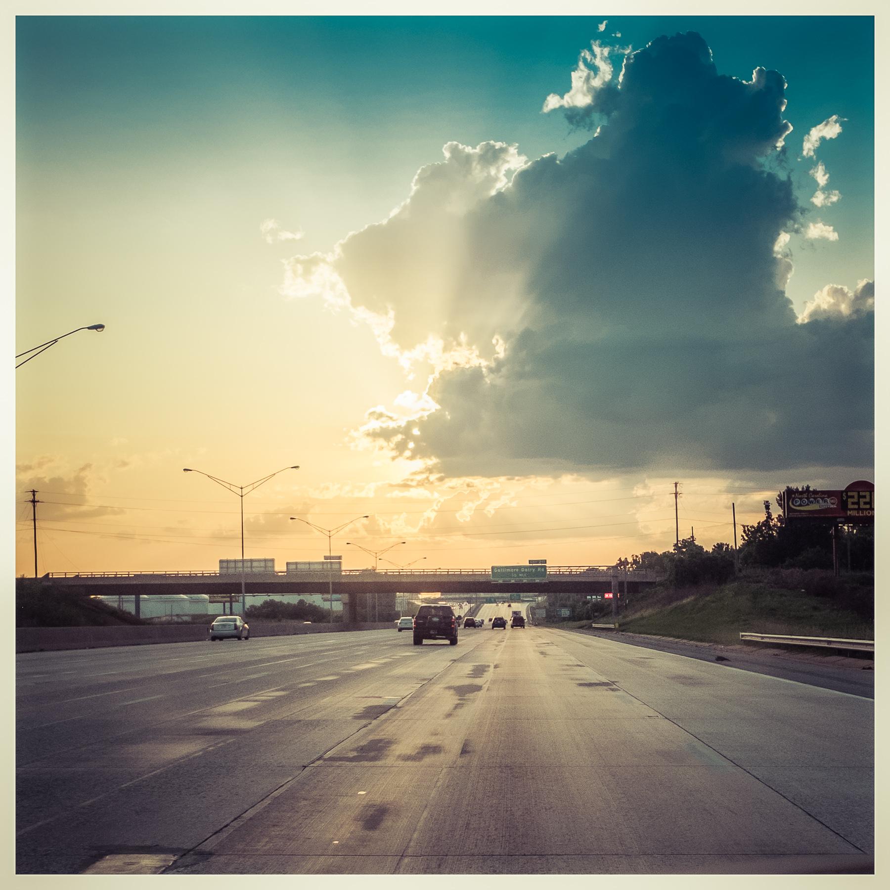 Sunset heading east on the I-40