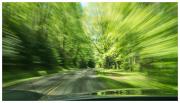 Speeding down the Blue Ridge Parkway