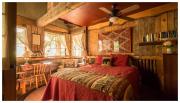 My room at the Kana'Ti Lodge near Max Patch