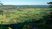 View over Ragunda valley from Kullstaberget in Hammarstrand, Jämtland.