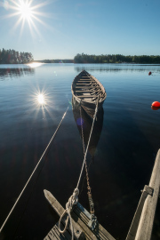 Boat in lake Åmänningen, Ängelsberg, Västmanland