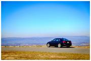 Rental car on Blue Ridge Parkway