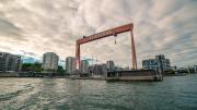 The Eriksberg dock and gantry crane.