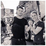Olle, winner of the Volo Trucks arm wrestling championship 2017