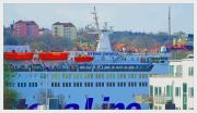 Stena Danica leaving port