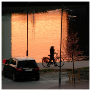 Fiery sunset over Sannegården, April 29